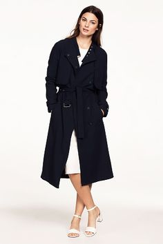 Ellos Collection Trenchcoat i lang model