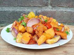 Ovenschotel met zoete aardappel