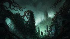 Dark Fantasy Ruins, Jorge Jacinto on ArtStation at https://www.artstation.com/artwork/BV658