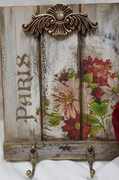 Decoupage Vintage, Shabby Vintage, Painted Trays, Wood Slats, Wooden Crafts, Mixed Media Canvas, Wooden Signs, Wood Furniture, Decorative Boxes