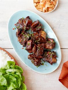 Get Korean Style Barbecue Short Ribs Recipe from Food Network