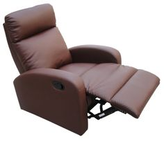 Dallas Recliner  With plentiful padding and ergonomically sculpted arms, the Dallas is indubitably a comfy Command Station from which to control the remote!!!!!  Available in: brown or black  Overall Dimensions: W750mm x D900mm x H1010mm