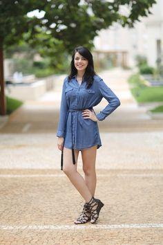 Look Forever 21 http://www.justlia.com.br/2015/11/looks-da-forever-21/ Chemise de jeans com gladiadora
