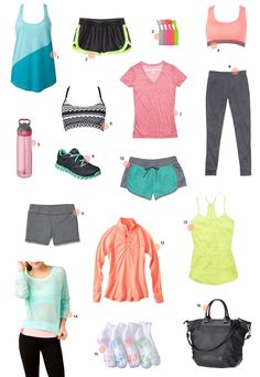 Activewear Round-up: Under $40 |   Read more - http://www.stylemepretty.com/living/2013/07/17/activewear-round-up-under-40/
