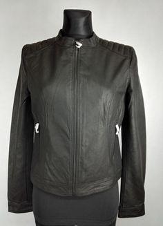 Kup mój przedmiot na #vintedpl http://www.vinted.pl/damska-odziez/kurtki/13558763-klasyczna-czarna-kurtka-ramoneska-100-skora-nowa-vila-m