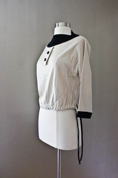 1940s White Wool Sailor Knit Sweater  Judy by SalvatoCollection, $54.00