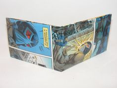 Valentines Day Gift Sale Comic Book Wallet// Bane vs Batman, $2.25