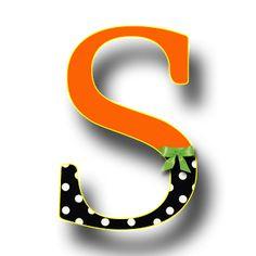 Free Orange Polka Digi Scrapbook Alphabet |