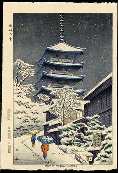 Snow in Japan Japanese Art Prints, Japanese Artwork, Japanese Painting, Snow In Japan, Japanese Art Samurai, In Praise Of Shadows, Yuki Onna, Asian Landscape, Japanese Woodcut