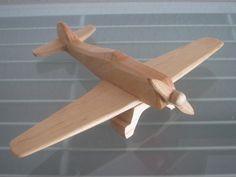 Focker Wulf airplane flier vintage wood by Wooden Airplane, Airplane Crafts, Making Wooden Toys, Handmade Wooden Toys, Wooden Toy Trucks, Wood Plane, Vintage Airplanes, Wooden Projects, Wood Toys
