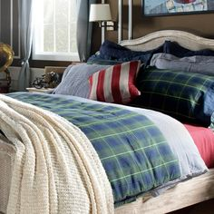 Kingston Green #Tartan #Bedding Setmade of 100% #cotton fabric that provides a #healthy #sleep with #soft tissue is an ideal choice for those looking for elegance even in the simplest details. Kingston Green Tartan Bedding Set that has two different views with two different surfaces consists of linen, sheet and four pillowslips. #casualavenue