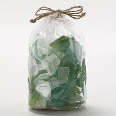 One of my favorite discoveries at WorldMarket.com: Green Seaglass Vase Fillers