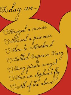 Mouse Ears - Today we.... - Project Life Disney Journal Card - Scrapbooking