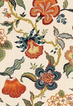 Schumacher Celerie Kemble Hot House Flowers 174031