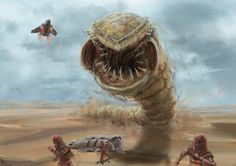 Sand worm by Meewtoo