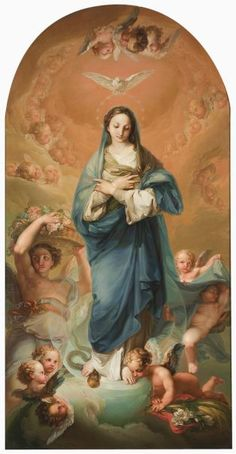 The Immaculate Conception - The Collection - Museo Nacional del Prado Blessed Mother Mary, Blessed Virgin Mary, Catholic Art, Catholic Saints, Religious Icons, Religious Art, Philippe De Champaigne, Religion, Queen Of Heaven