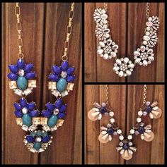 Just a few of the $10 statement necklaces available at Walmart!! They look great and have great quality, too! I love mine! #walmart #jewelry #jewels