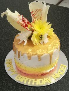 Chocolate drip birthday cake from CakesbySthabile
