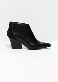 Other Stories image 1 of Sculpted Heel Boots in Black