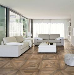 Porcelain stoneware tile that looks like parquet wood flooring. Mansion offers the visual impact of French Versailles parquet floor. Timber Tiles, Faux Wood Tiles, Best Flooring, Flooring Options, Parquet Flooring, Wood Parquet, Living Room Designs, Living Room Decor, Living Room Flooring