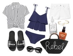 """""""rebel at the beach"""" by cnle ❤ liked on Polyvore featuring T By Alexander Wang, Schutz, Gap, Lisa Marie Fernandez, Hawaiian Tropic, Herbivore, Eugenia Kim and Acne Studios"""