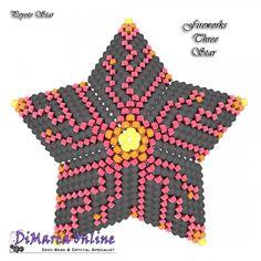 Tutorial Fireworks Three 3D Peyote Star + Basic Tutorial Little 3D Peyote Star (download link per e-mail) - DiMarca Online