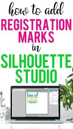 How to Add Registration Marks for a Multi-Color Design in Silhouette Studio - Burton Avenue Silhouette School, Silhouette Cutter, Silhouette Curio, Silhouette Cameo Machine, Silhouette Vinyl, Silhouette America, Silhouette Portrait, Silhouette Files, Silouette Cameo Projects
