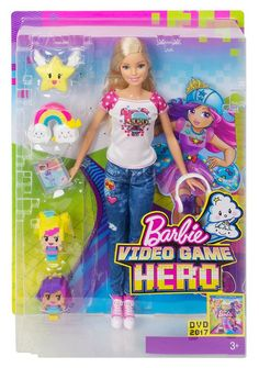 Barbie Video Game Hero Doll - this Barbie is a great toy for kids who like both dolls and computer games! Mattel Barbie, Barbie And Ken, Girl Toys Age 5, Toys For Girls, Kids Toys, Barbie Doll Accessories, Doll Clothes Barbie, Barbie Dress Up Games, Ken Doll