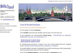 Visum für Russland.