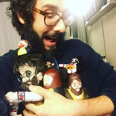 Josh Groban and his Pierre dolls Great Comet Of 1812, The Great Comet, Theatre Geek, Musical Theatre, Lucas Steele, Josh Gorban, Rocky Horror Picture, Queen, My Favorite Music