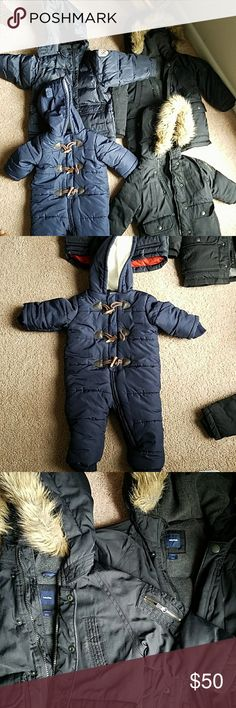 Four heavy duty children winter coats. Highly insulated to keep warm for the cold winter baby gap  Jackets & Coats Puffers