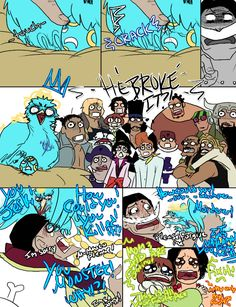 marco layed an egg pt. 5 -he broke it? -this is ur fault ace! -how is it my fault?!