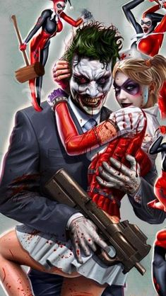 Joker And Harley Quinn Iphone 5 Wallpapers Gotham City Horns Bruce Banner Comic