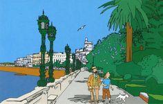 Tintin et Haddock en promenade...