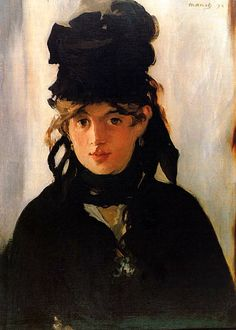 The above painting, entitled Berthe Morisot with a Bouquet of Violets, is probably the most famous portrait ever done of her.  The artist, her good friend (and lover?) Edouard Manet, painted the picture in 1872.  Manet made a total of eleven oil portraits of Morisot.  In my opinion, this is the best of the lot!