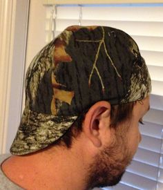 ccfb1281e31 Items similar to Welders hat cap reversible washable padded camo on Etsy