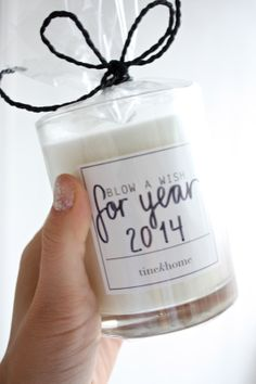 homemade Xmas gift idea: happy new year candle