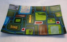 Fused glass by Karen Tarlow, 2010.  Really beautiful.