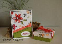 """boite déco papier estampé avec """"garden in bloom"""""""