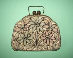 Art Deco Beaded Satin Handbag. @designerwallace