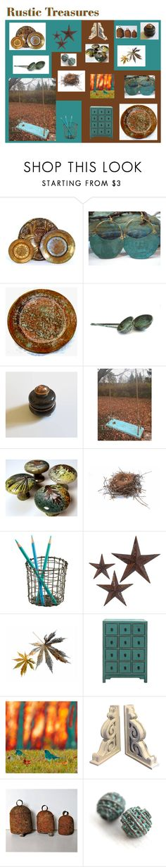 """Rustic Treasures"" by anna-ragland ❤ liked on Polyvore featuring Rustico, jcp, kitchen, contemporary, rustic and vintage"