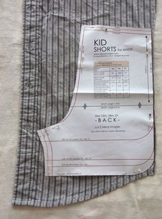This tutorial will show you how to repurpose a man's shirt to sew a pair toddler shorts using your favorite shorts pattern.