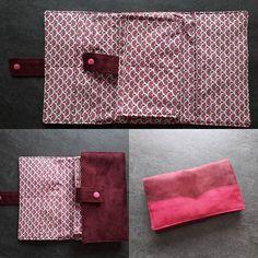 Bordeau Christelle sur Instagram: Fabrication d'un portefeuille cet après-midi avec ma sœur @stephanie.bordeau Patron de @patrons_sacotin