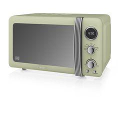 Swan 800W Retro Digital Microwave