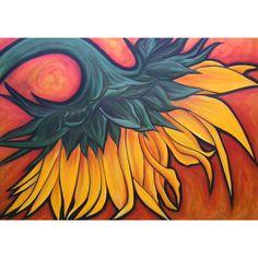 Reproduction d'une peinture de tournesol : Affiches, illustrations, posters par…