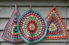 Granny placemats...Oh the many uses of the Granny Stitch!