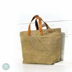 Brown+old+military+canvas+handbag+vintage+recycled+by+enocska