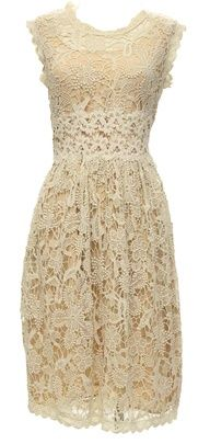 Play date dress. The lace on this dress is divine and looks so much better in real life. Summer 2013.