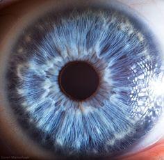 Fotografía macro: El ojo humano como una galaxia