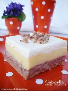 Gabriella kalandjai a konyhában :) Eat Dessert First, Cheesecake, Food And Drink, Xmas, Sweets, Cooking, Diy, Kitchen, Gummi Candy